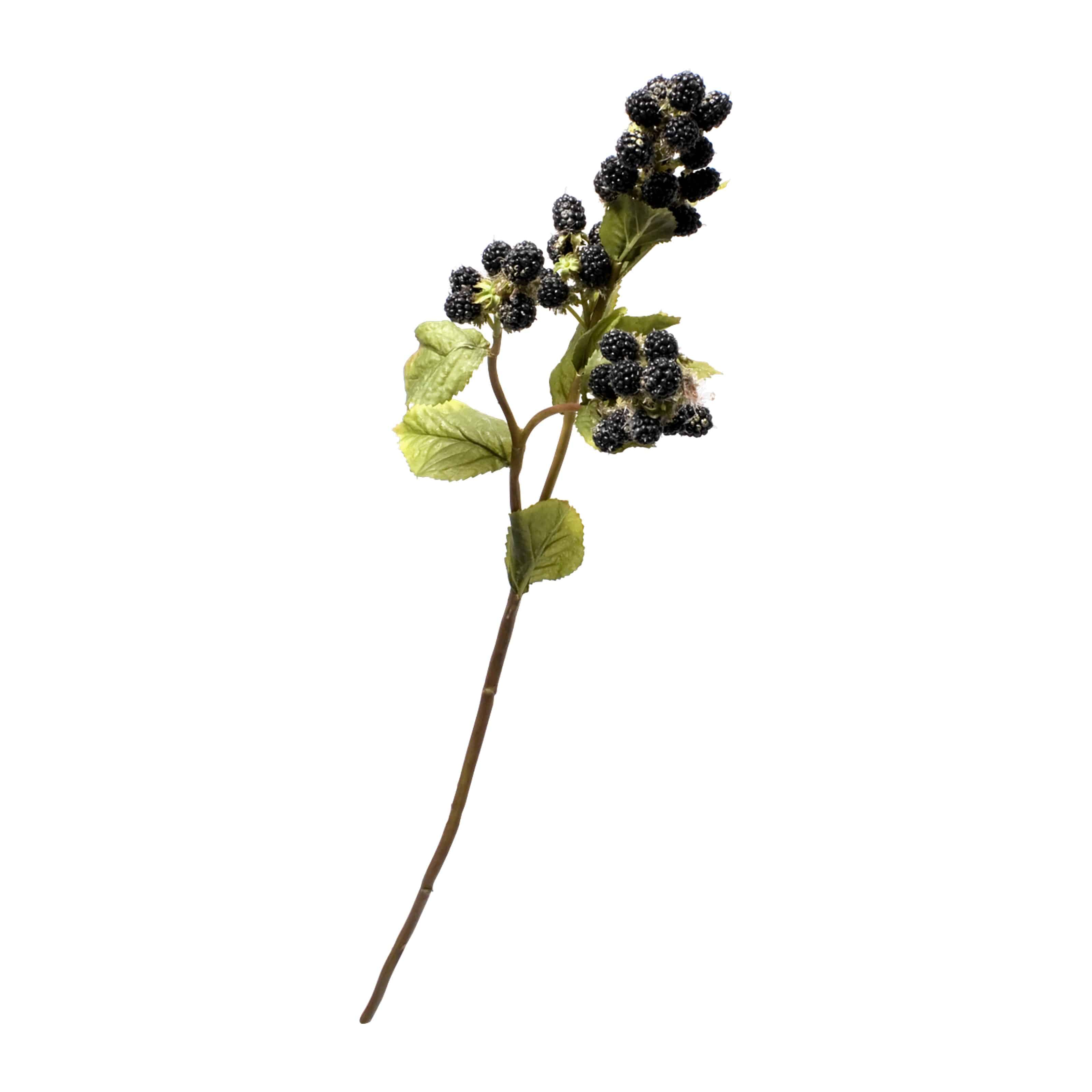 Delicious and flawlessly natural looking artificial blackberry spray stem