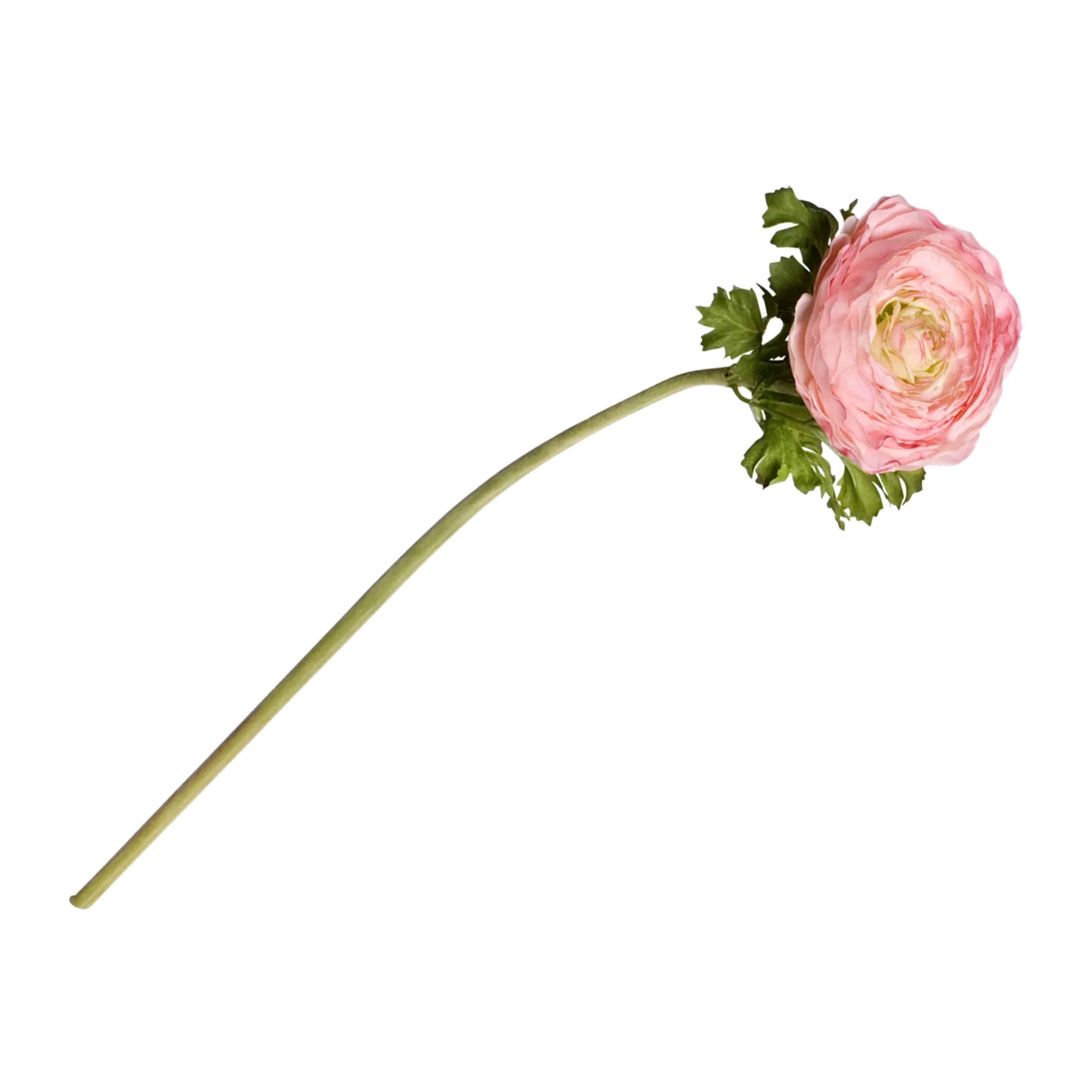 Buy full bloomed artificial ranunculus is wonderfully designed to show this flower at its finest. Natural pink colour is superbly lifelike authentic centre.
