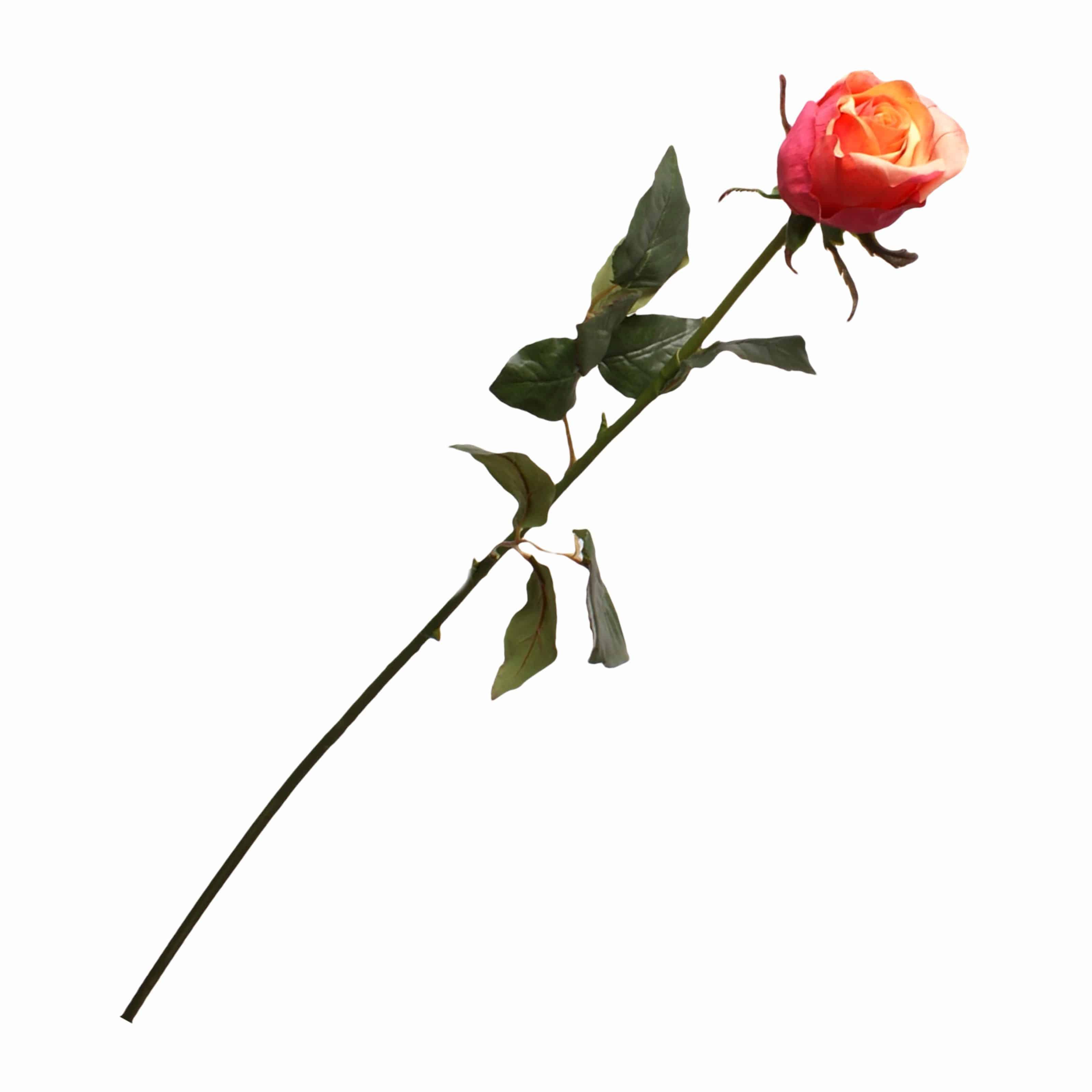 product S FST00016 faux rose flower stem cherry brandy pink peach 1