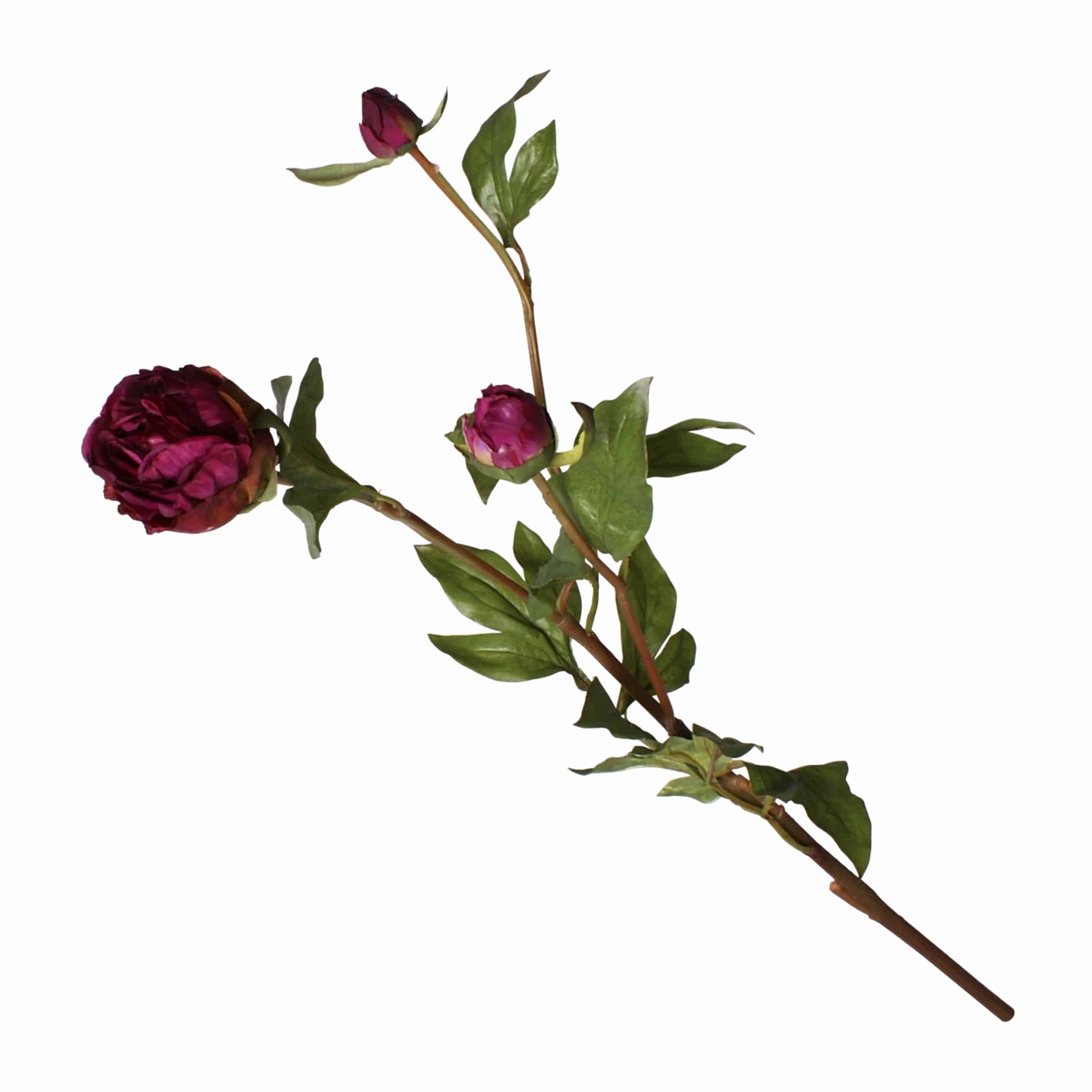 Silk peony bud flower spray burgundy shop lifelike flowers buy one of the best silk flowers available our faux peony flower with bud dhlflorist Image collections