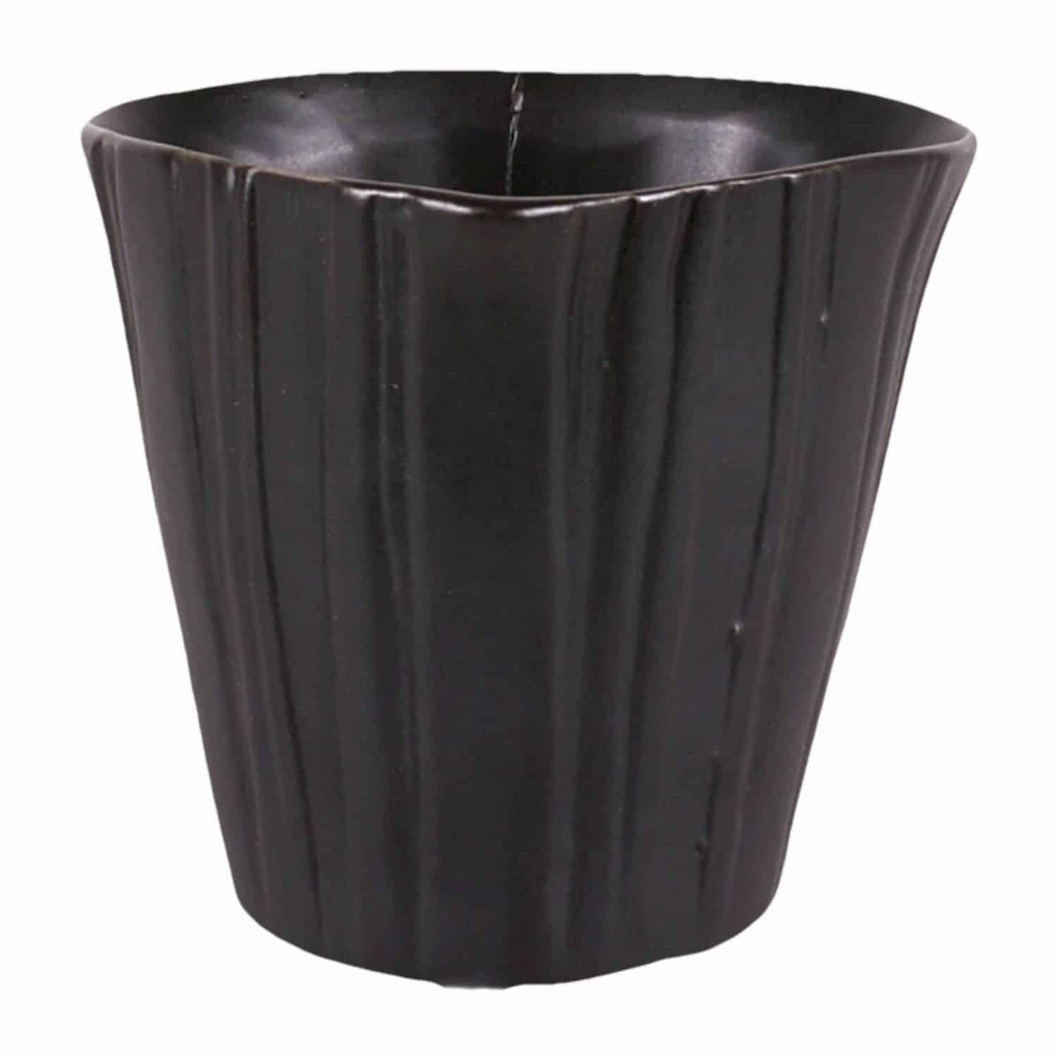 Buy our matt black handmade versatile little plant pot. A favourite for window gardens