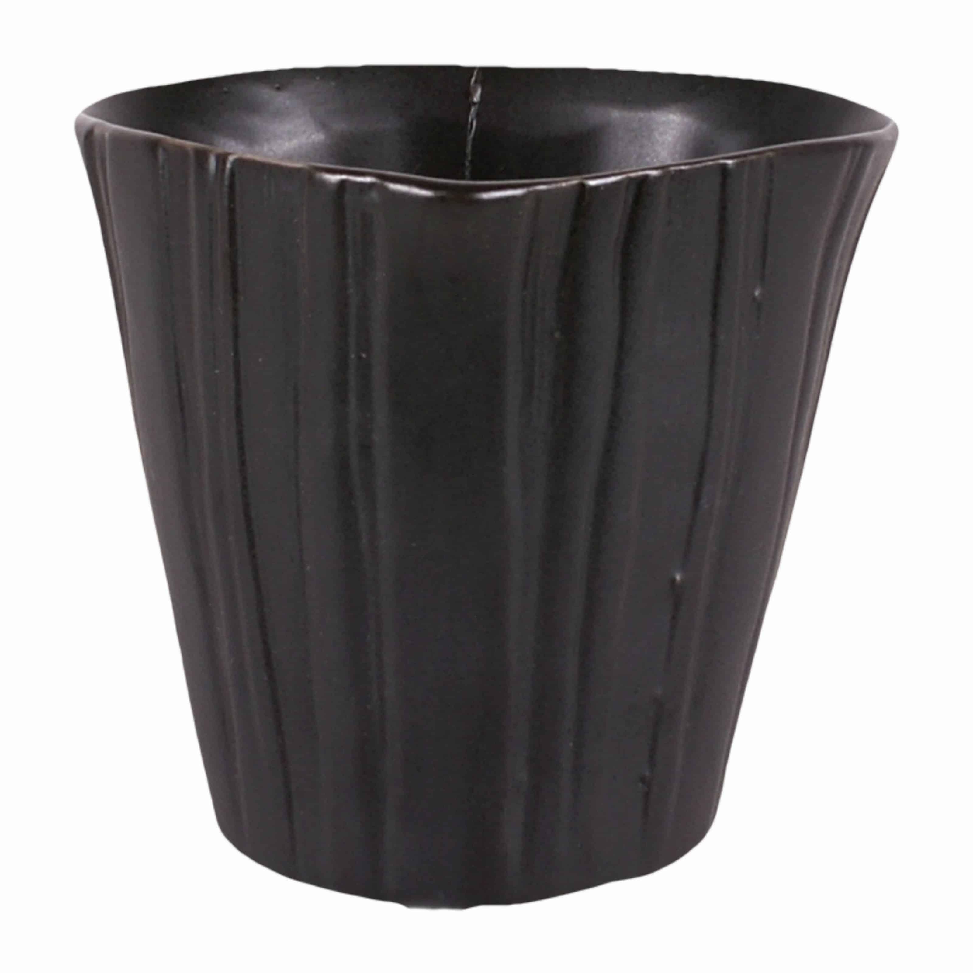 Buy our matt black handmade versatile little plant pot. A favourite for window gardens