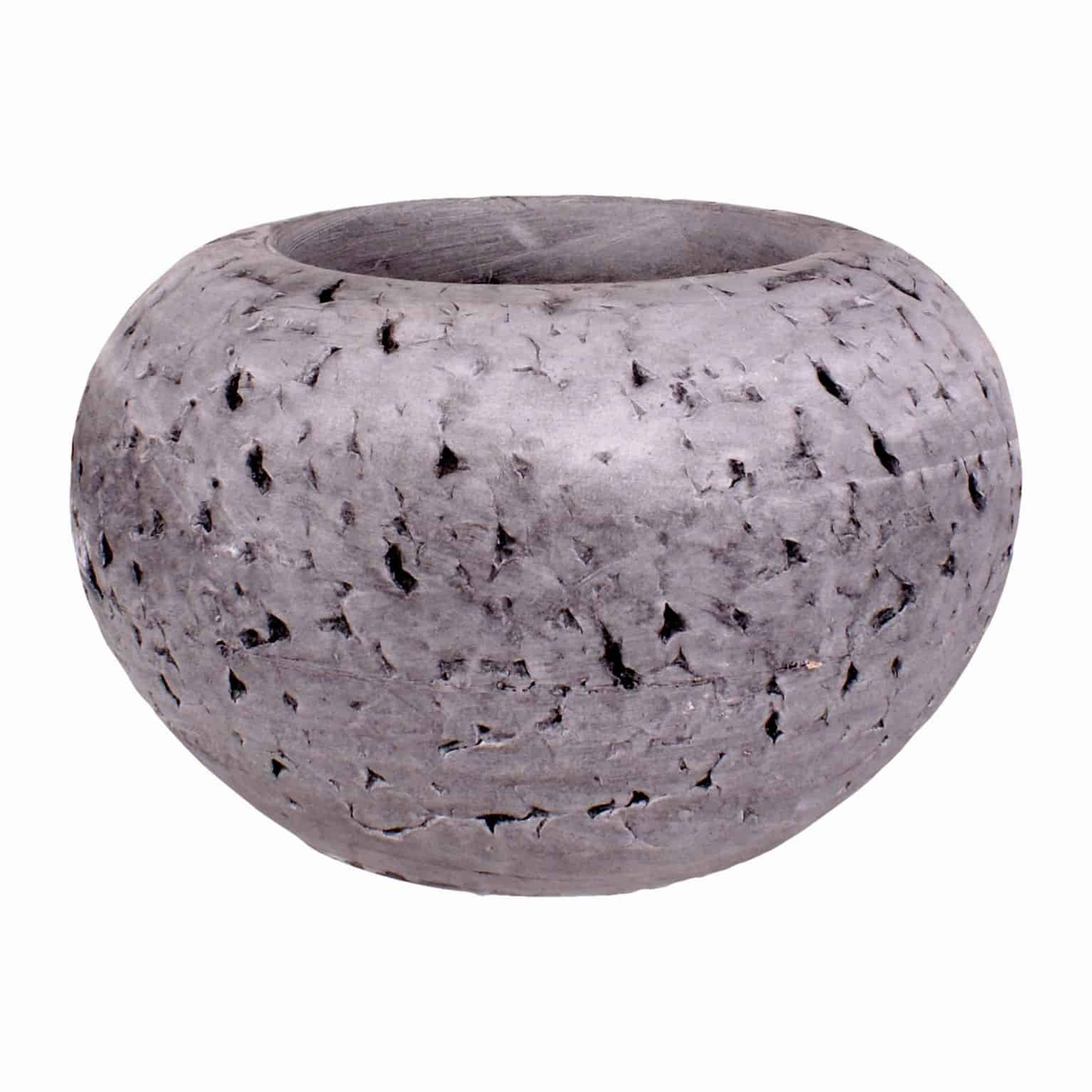 Buy our hand made unique design light grey cranium planter pot. A modern style with interesting grooves to add a chic touch to your flowers and plants.